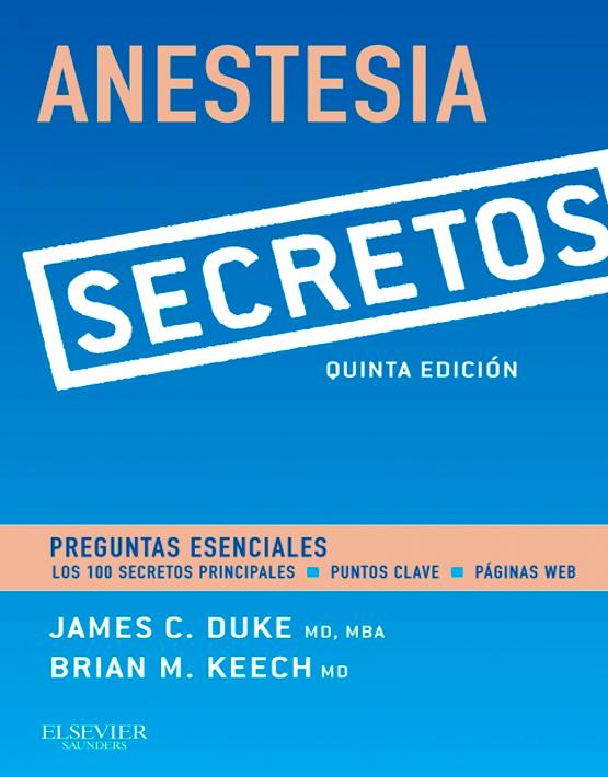 Anestesia. Secretos
